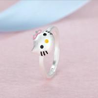 harga Hello Kitty Ring Cincin Korea Titanium Perhiasan Emas Putih Berlian Tokopedia.com