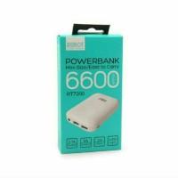 harga Vivan Power bank Robot RT7200 6600mAh 2 USB mini LED White Tokopedia.com