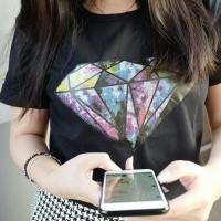Jual Tumblr Tee / T-Shirt / Kaos Wanita / Diamond Murah