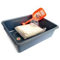 Paket Litter Box Kucing Toilet Kucing