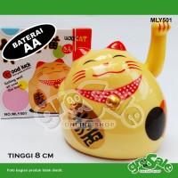 Kucing Hoki Kuning Gendut-Maneki Neko-Lucky Cat-Keberuntungan-G034LB