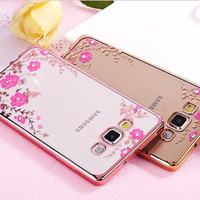 Casing Cover SAMSUNG A7 2016 Flowers Case Diamon GALAXY A5 2016