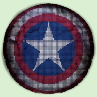 Captain America Shield Cushion v2 Epicline Project by TAP (Bantal)