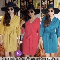 Dress / Dress Nikita / Kuning / Salem / Biru / Yellow / Blue