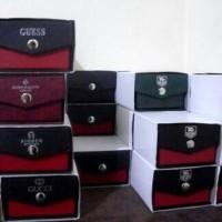 BOX JAM TANGAN KANCING MERK BRANDED/POLOS