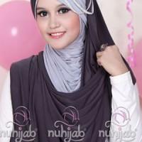 Hijab Jilbab Kerudung Murah | Nuhijab Tts - Dark Grey Grey