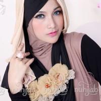 Hijab Jilbab Kerudung Murah | Nuhijab Tts - Black Mocca