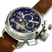 Jam tangan Pria U-Boat Italo Fontana Turbillon Reposio Cokelat Silver