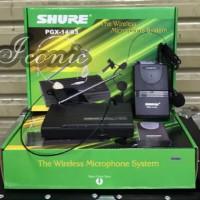 Mic Wireless Shure PGX 14/93 (Clip On + Headset Hitam)