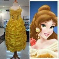 Baju Kostum Princess Belle Semprem/Gaun Ulang Tahun Anak