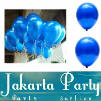 Balon Metalik Biru Tua