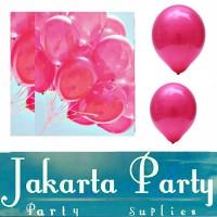 Balon Metalik Pink Tua