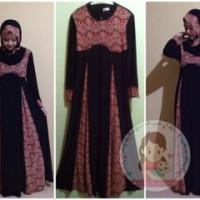muslimah dress brokat set pashmina