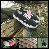 sepatu vans authentic black / hitam