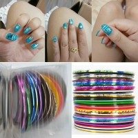 Sticker Nails Rolls Striping Tape Line DIY Nail Art / stiker kuku