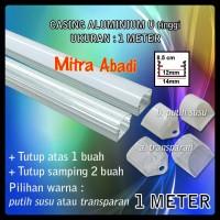 harga Casing Aluminium for Hard Strip LED Model U-Tinggi 1 meter Tokopedia.com