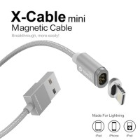 Jual Original WSKEN X-Cable Mini 2 Magnetic Cable 2in1 for Android & Iphone Murah
