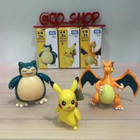 Takara Tomy Metacole Pokemon Figure set(Pikachu, Snorlax, Charizard)