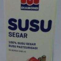 Jual Susu Segar DIAMOND rasa PLAIN  isi 6 pcs @ 1 liter Murah