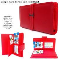 dompet wanita kulit H-kelly kartu merah
