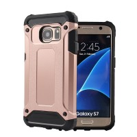 Samsung Galaxy S7 FLAT Hybrid Armor Bumper Cover Casing Case keren