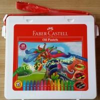 isi 48 warna crayon Faber Castell Original oil pastels alat gambar TK