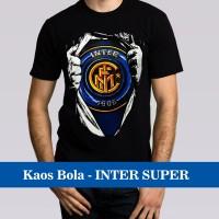 Jual Kaos Distro Bola Inter Milan Superman / Liga Italia SERI A / 3D Murah