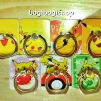 Ring Stand Plastik Gambar Pokemon / Cincin HP Plastik Gambar / iRing