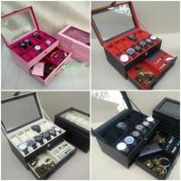 TERMURAH - Box Jam Tangan isi 12 Mix Perhiasan / Kotak Tempat Jam