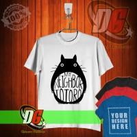 KAOS OBLONG,KAOS DISTRO My Neighbor Totoro Logo