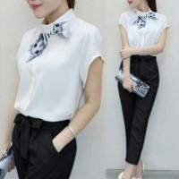 Set Cutya Black / Grosir Baju Setelan Wanita / Setelan Murah