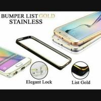 Bumper Kait List Gold Samsung Galaxy J2 J3 J5 J7