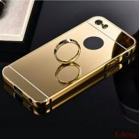 Jual Free Tempered Glass Mirror case Alumunium Bumper Iphone 5/5S/SE Casing Murah