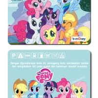 kartu emoney mandiri etoll e-money e-toll my little pony rainbow dash