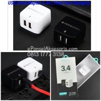 charger USB Dual Adaptor 3.4A TOTU