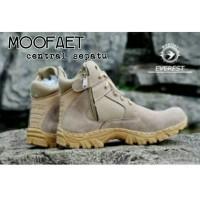 Sepatu Boots Pria Moofeat Tracking Model Delta Gagah Keren Warna Cream