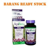 Natrol acai berry diet & greentea 60kapsul