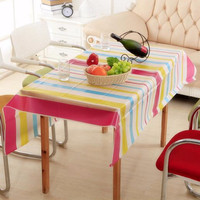 Taplak Meja Makan | Tamu | Set | Anti Air Motif Salur Stripes