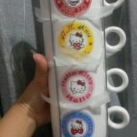 Coffee cup set (4pcs) Hello Kitty + Holder