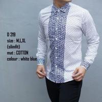 D28 Baju batik kemeja pria slim fit model terbaru keren