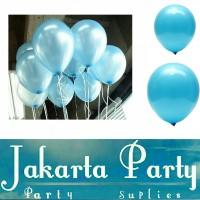 Balon Metalik Biru Muda