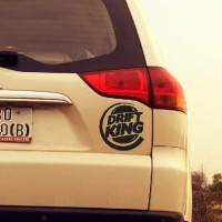 Aksesoris Mobil Motor Stiker Drift King Logo Body Decal Car Sticker