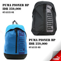 tas ransel backpack puma pioner bp black and blue original 100%