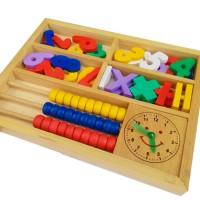 Sempoa matematika, mainan edukatif edukasi kayu anak SNI angka cerdas