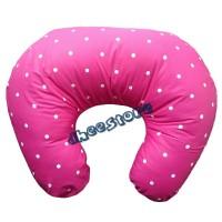 Bantal menyusui / Nursing pillow motif Polkadot maroon