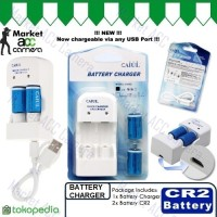Charger/Rechargeable Battery CR2 / CR 2 (Baterai Cas)