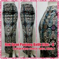 harga Rok Span Panjang Batik Etnic - B ( bahan katun stretch, melar, adem ) Tokopedia.com