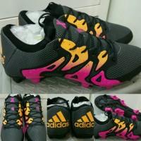 Sepatu Sepakbola Soccer Adidas X 15.1 2016 FG Black Pink Orange