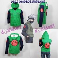 Jaket Anime Naruto Shippuden Kakashi Hoodie Pria Wanita Kostum Cosplay