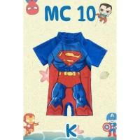 Baju Renang Anak Lelaki Boy Swimsuit Superman